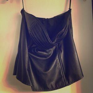 Black Leather corset.